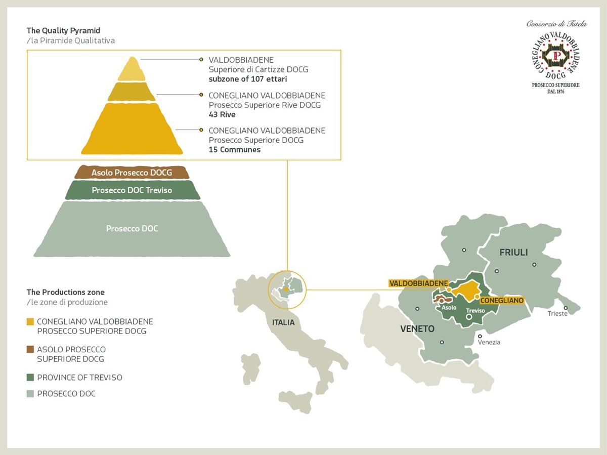 Mappa del Prosecco